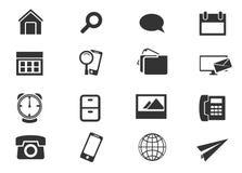 Communautaire geplaatste pictogrammen Stock Afbeeldingen