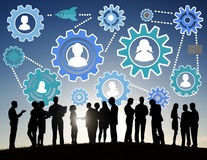 Communautaire Zaken Team Partnership Collaboration Support Concep royalty-vrije illustratie
