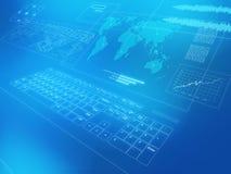 Communcations in tutto il mondo Illustrazione di Stock