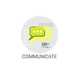 Communicate Chat Social Network Communication Message Icon. Vector Illustration Stock Photography