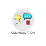 Communicate Chat Social Network Communication Message Icon. Vector Illustration Royalty Free Stock Photo