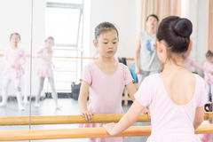 Communicate with-In the dance rehearsal room girl Stock Photography