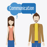 Communicate, desing, vector illusttration Stock Photos
