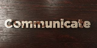 Communicate - grungy wooden headline on Maple  - 3D rendered royalty free stock image. This image can be used for an online website banner ad or a print Stock Photos
