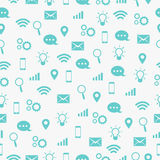 Communicate Icon Seamless Pattern Royalty Free Stock Photo