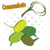 Communicate icons Stock Images