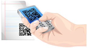 Communicate with QR Code - Illustration Stock Photos