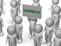 Communicate Sign Shows Speaker Or Discussion Stock Image