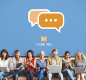 Communicate Socialize Talk Connect Technology Concept Royalty Free Stock Image