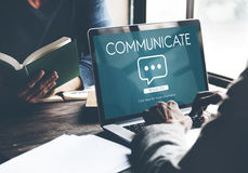 Communicate Speech Technology Connection. People Communicate Speech Technology Connection Royalty Free Stock Photography