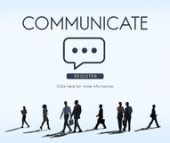 Communicate Speech Technology Corporate Connection Royalty Free Stock Image