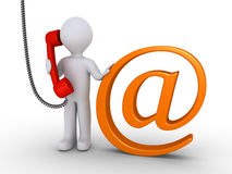 Communicate with us by e-mail or telephone Royalty Free Stock Image