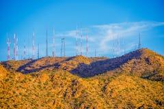 Communicatie Antennes Stock Afbeeldingen