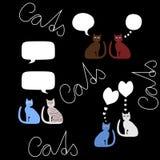 Communicatie bellen - katten stock illustratie