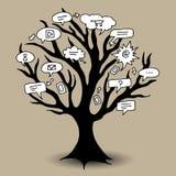 Communicatie boom Stock Afbeeldingen