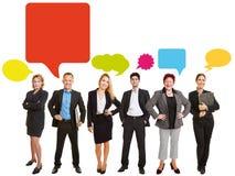 Communicatie commercieel teamconcept stock foto