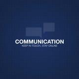 Communicatie concept in HUD-stijl Het woord` communicatie ` HUD ontwerp met toespraak Absrtract vectorillustratie Royalty-vrije Stock Fotografie