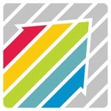 Communicatie concept - kleurenpijlen Royalty-vrije Stock Foto