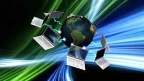 Communicatie concept met abstracte achtergrond Stock Fotografie