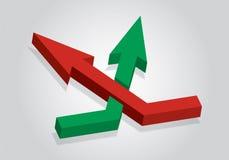 Communicatie concept met pijlen Royalty-vrije Stock Afbeelding