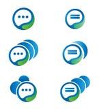 Communicatie embleem, pictogramreeks Stock Foto