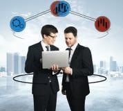 Communicatie en financiënconcept Stock Afbeelding