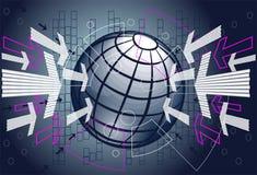 Communicatie en technologieachtergrond Stock Foto's