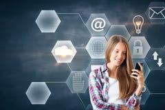 Communicatie en technologieconcept stock foto's
