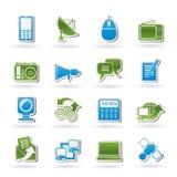 Communicatie en van de Technologie pictogrammen Stock Foto