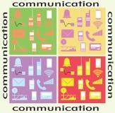 Communicatie evolutie Stock Afbeeldingen