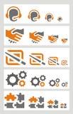 Communicatie geplaatste pictogrammen Royalty-vrije Stock Foto's