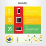 Communicatie infographic apparaten Stock Afbeelding
