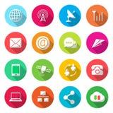 Communicatie kleurrijke Pictogrammenvector royalty-vrije illustratie