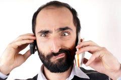 Communicatie mens Stock Fotografie