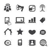 Communicatie pictogram Stock Fotografie