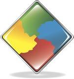 Communicatie pictogram met silhouettenmensen vector illustratie