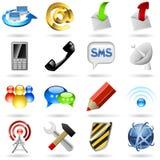 Communicatie pictogrammen Stock Foto's