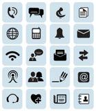 Communicatie pictogrammen Stock Afbeelding