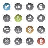Communicatie pictogrammen Stock Foto