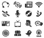 Communicatie pictogrammen Stock Fotografie