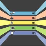 Communicatie pictogrammen vlak ontwerp Royalty-vrije Stock Foto