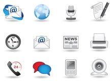Communicatie pictogramreeks Stock Afbeelding