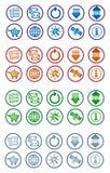 Communicatie pictogramreeks Stock Afbeeldingen