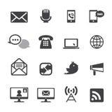Communicatie pictogramreeks Stock Foto