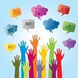Communicatie producten en de diensten voor zaken Stock Fotografie