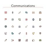Communicatie Rassenbarrièrepictogrammen vector illustratie