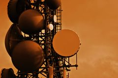 Communicatie Toren Royalty-vrije Stock Fotografie