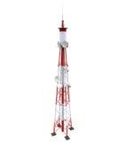 Communicatie Toren met Antennes Stock Foto's