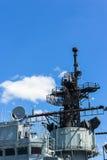 Communicatie toren op het slagschip Royalty-vrije Stock Foto