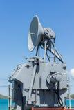 Communicatie toren op het slagschip Stock Fotografie